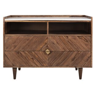 Zareen Herringbone 2 Drawer Chest by Union Rustic