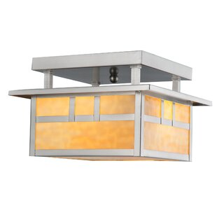 Double Bar Mission 2-Light Semi Flush Mount by Meyda Tiffany