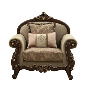 Swett Arched Backrest Velvet Upholstery Armchair with 2 Pillows by Astoria Grand