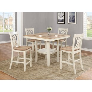 Channelle 5 Piece Pub Table Set by Rosali..