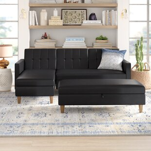 Cordell Reversible Sleeper Sectional with Ottoman by Mistana