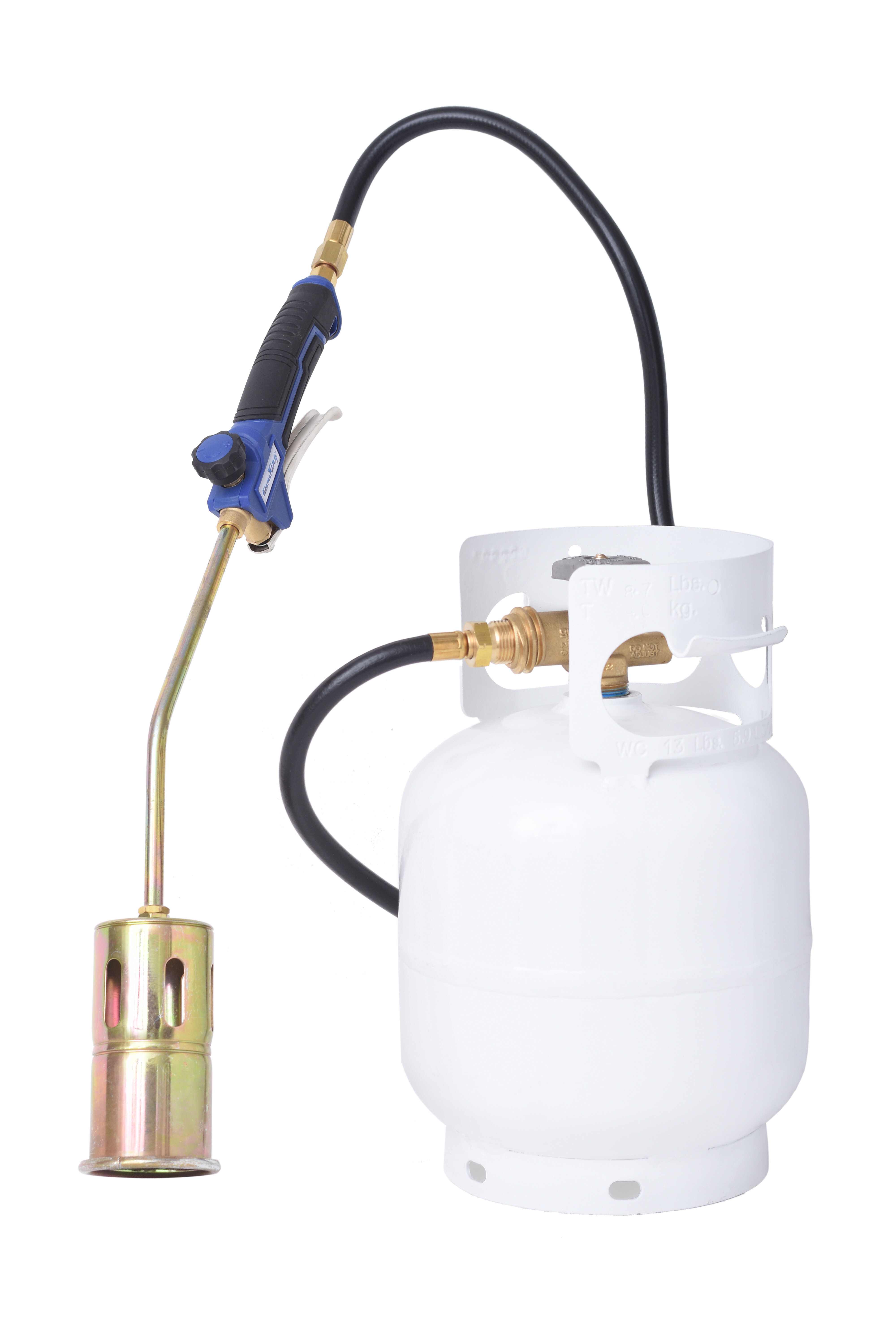 Flame King 320 000 Btu Propane Torch Steel Nozzle With Turbo Blast Trigger And Flow Valve Wayfair