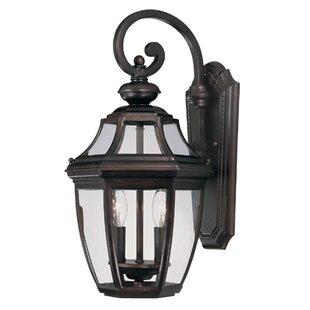 Alcott Hill Harter 2-Light Outdoor Wall lantern