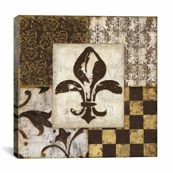 'Fleur de Lis' by Daphne Brissonnet Graphic Art on Canvas