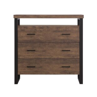 Union Rustic Leeson 3 Drawer Accent Cabinet