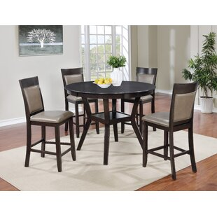 Emilsy 5 Piece Counter Height Dining Set ..