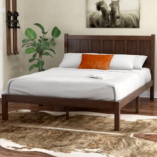 Talia Rustic Style Platform Bed
