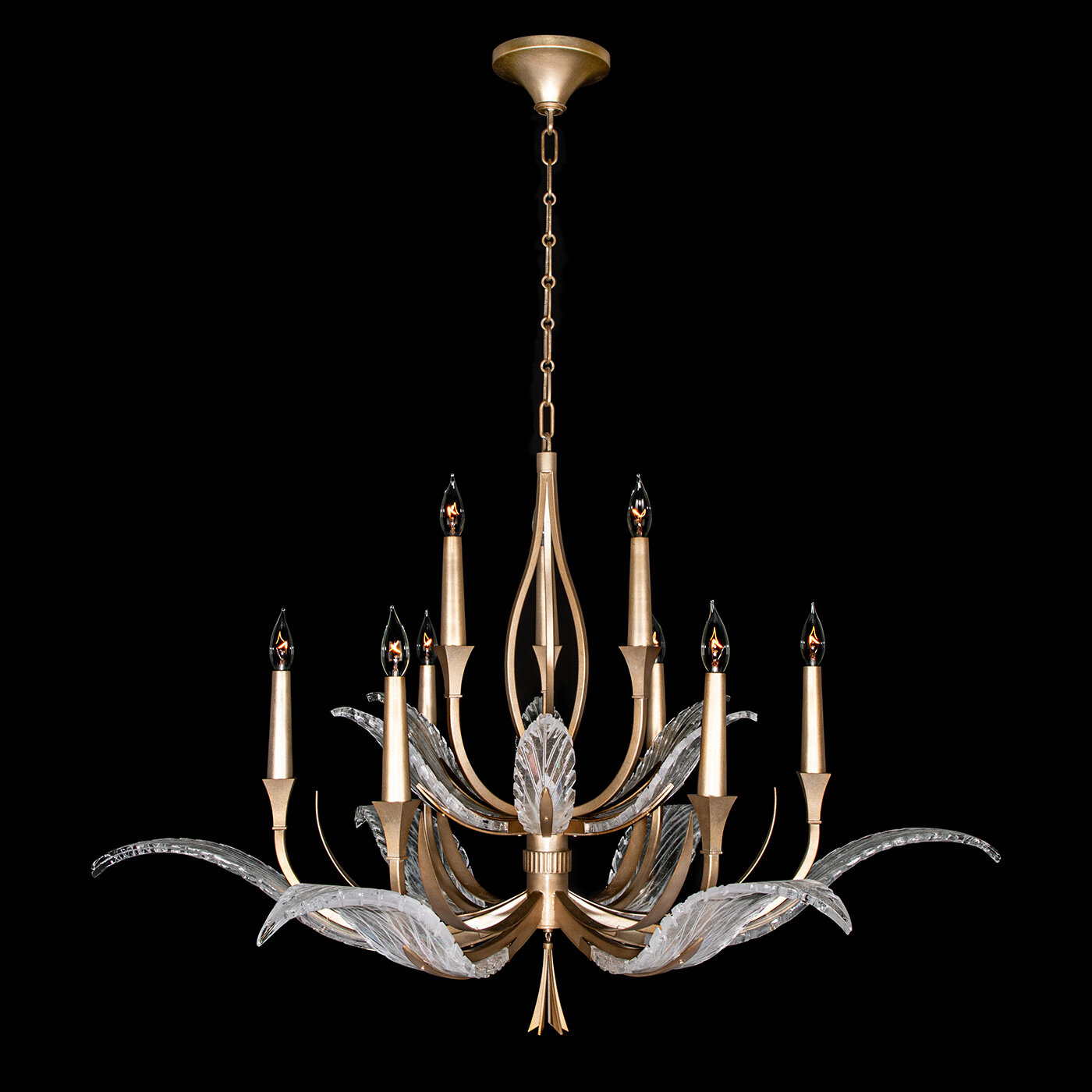Fine Art Lamps Plume 9 Light Candle Style Classic Chandelier With Rope Accents Wayfair