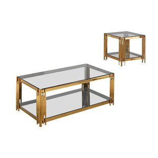 Mercer41 Hardman 2 Piece Coffee Table Set