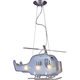 Zoomie Kids Kinley Childrens Helicopter 3-Light Novelty Chandelier