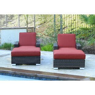 Longshore Tides Arcadia Double Sun Lounger Set Group with Cushion