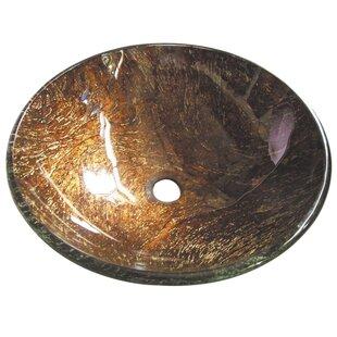 Top Reviews Trieste Glass Circular Vessel Bathroom Sink ByKingston Brass