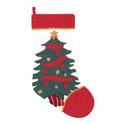 Christmas Tree Hooked Stocking