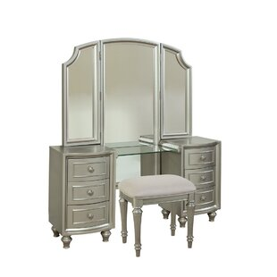 Willa Arlo Interiors Redick Vanity Set with Mirror