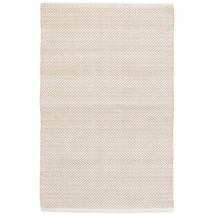 Read Reviews C3 Herringbone White Indoor/Outdoor Area Rug By Dash and Albert Rugs