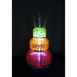 Miraculous Inflatable Birthday Cake Wayfair Birthday Cards Printable Inklcafe Filternl