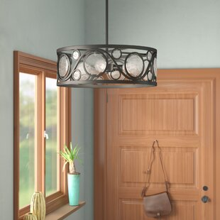 Bungalow Rose Harrietta 4-Light Drum Pendant