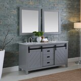 Arnot 60 Double Bathroom Vanity Set with Mirror by Gracie Oaks