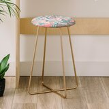 Wagner Campelo Marble Waves Desert 25 Bar Stool by East Urban Home