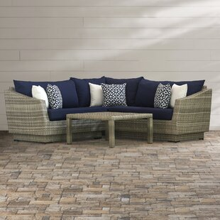 Castelli 4 Piece Sectional Sofa Set with Cushions by Wade Logan