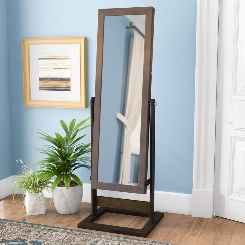 Andover Mills Whitney Free Standing Jewelry Armoire with Mirror