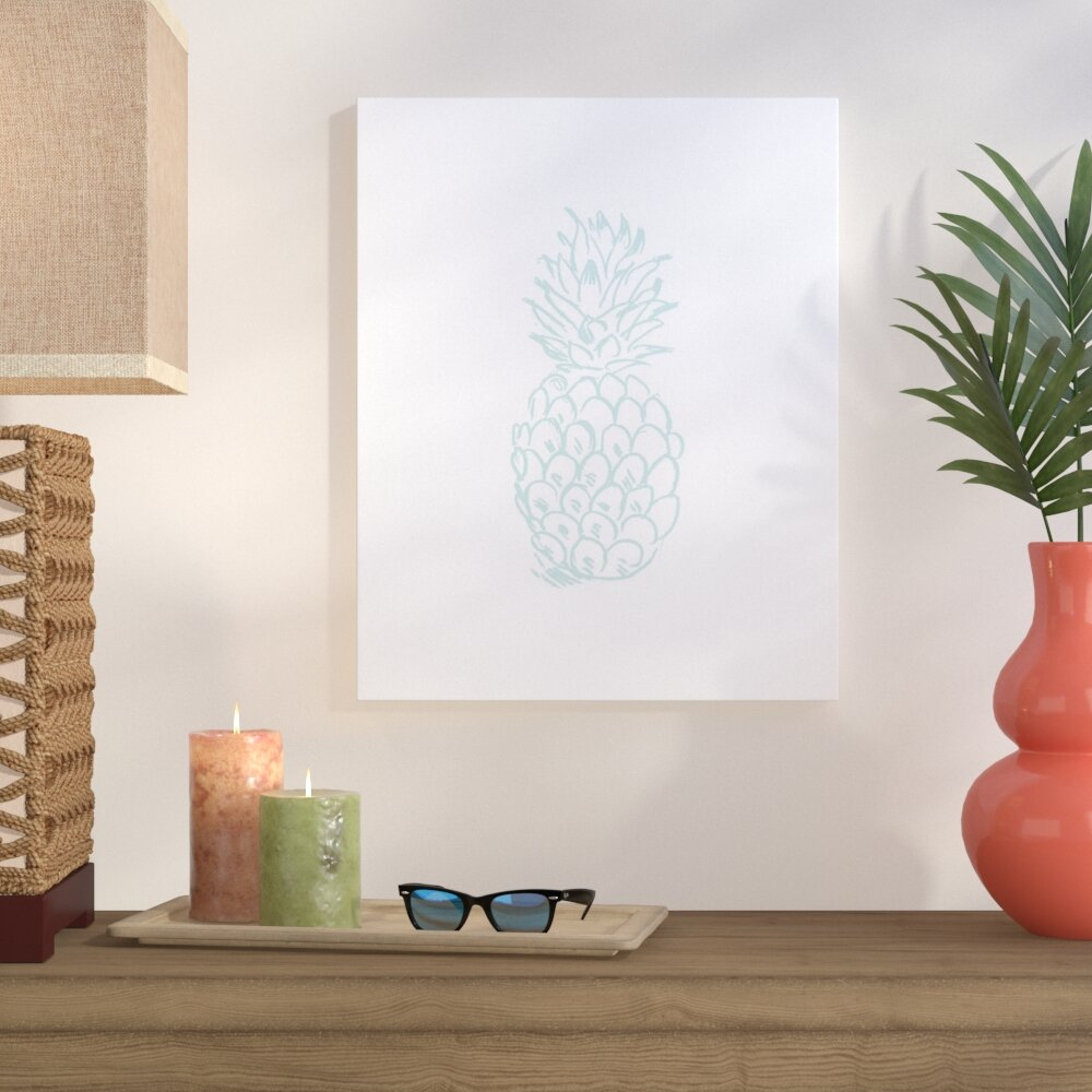 Bay Isle Home Pineapple Graphic Art On Wrapped Canvas Wayfair
