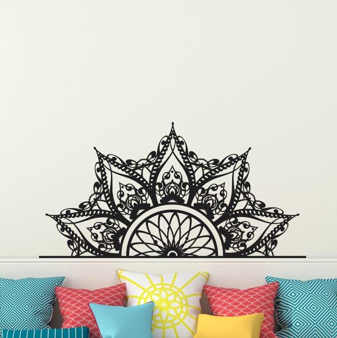 Decal House Mandala Headboard Wall Decal Reviews Wayfair - Wall decals headboard