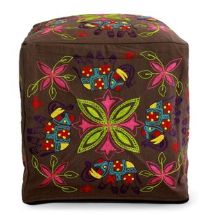 Savoy Elephant Blooms Pouf by Bloomsbury Market
