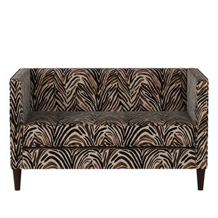 Bloomsbury Market Genevie Five Button Washed Zebra Loveseat