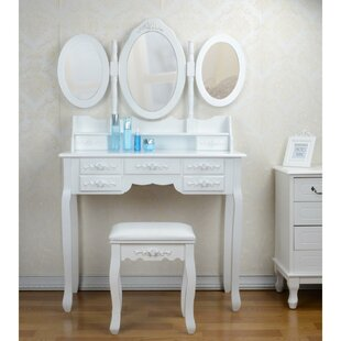 Galligan Dressing Table Set With Mirror By Fleur De Lis Living