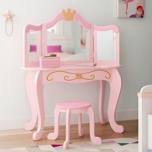 Schminktisch-Set Princess | Schlafzimmer > Kommoden | Mdf | KidKraft