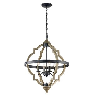 Gracie Oaks Sheets 4-Light Lantern Pendant
