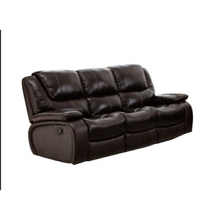 Hille Leather Reclining Sofa Red Barrel Studio