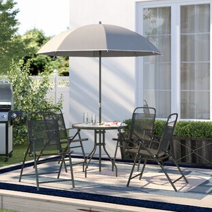 Beeson 6 Piece Dining Set with Umbrella b..