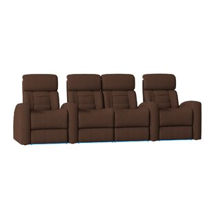 Latitude Run Diamond Stitch Home Theater Row Seating (Row of 4)