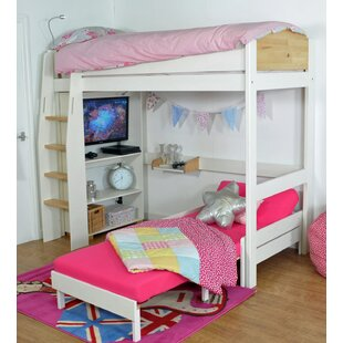 Jodi European Single L-Shaped Bunk Bed With Trundle And Desk By Zoomie Kids