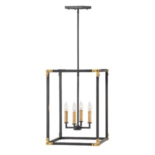 Louis Indoor 4-Light Lantern Chandelier b..