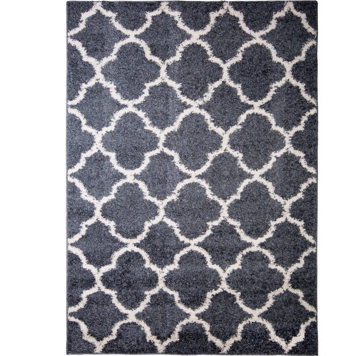 Synergy Abstract Blue White Area Rug
