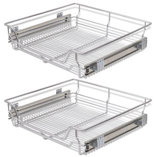 Vida Pull-Out Wire Under Shelf Basket (Set of 2) by Furnhouse