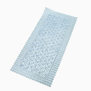 Vinyl Non Slip Pebble Shower Mat With Ultra Secure Suction Cups