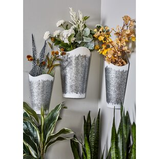 High Quality Farmhouse Conical 3 Piece Wall Planter Set