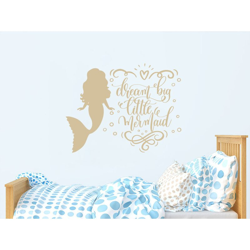 Dream Little Mermaid Quote Nursery Wall Decal