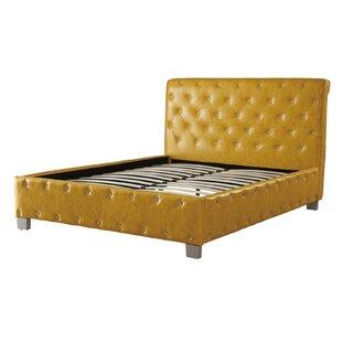 Desirae Polyurethane Upholstered Panel Bed by House of Hampton