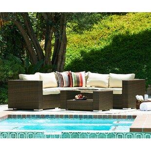 Shisler 4 Piece Outdoor Sectional Set