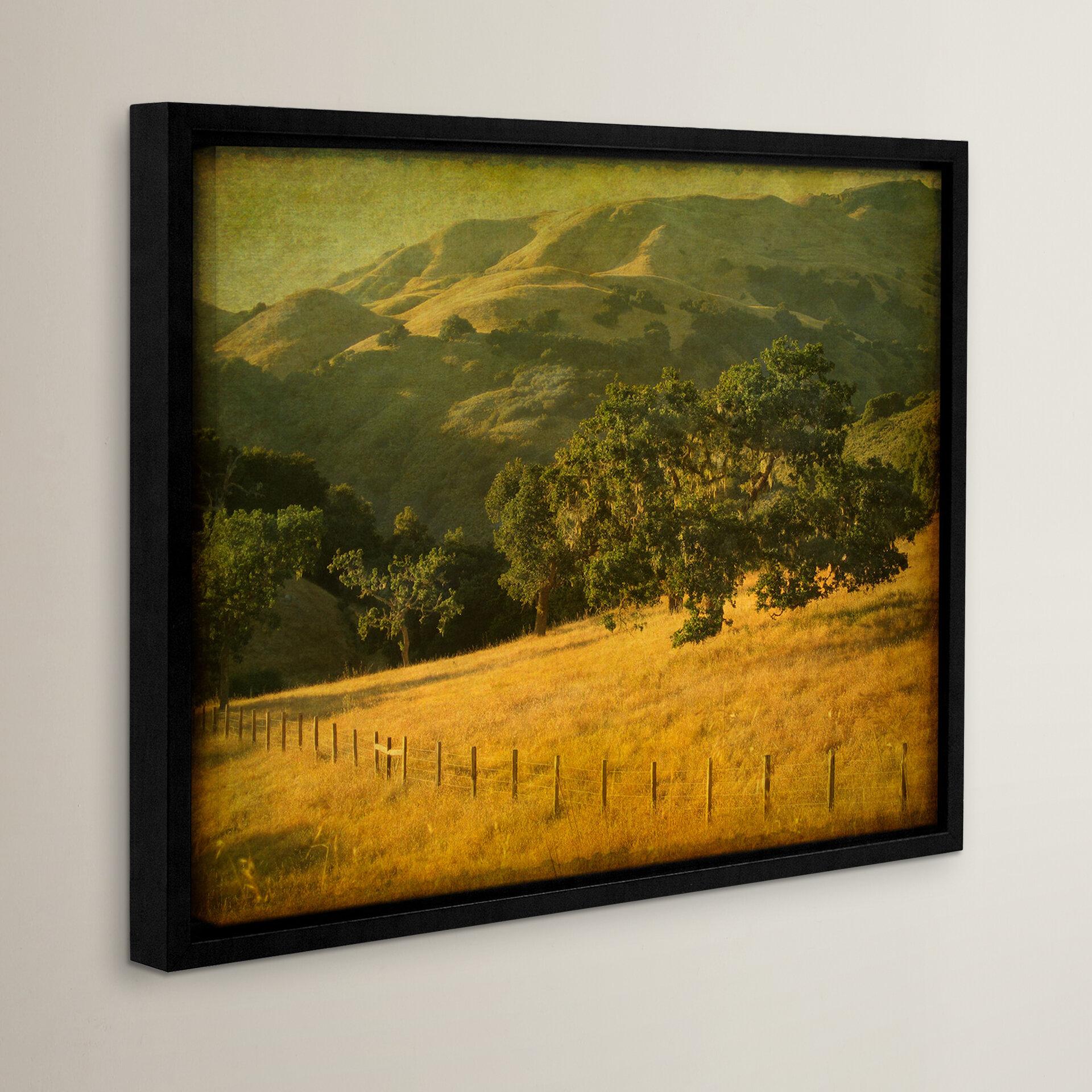 Loon Peak Oak And Fence Framed Photographic Print Wayfair