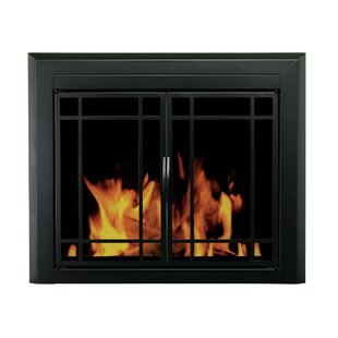 Fireplace screens doors youll love wayfair easton prairie single panel steel fireplace screen solutioingenieria Image collections
