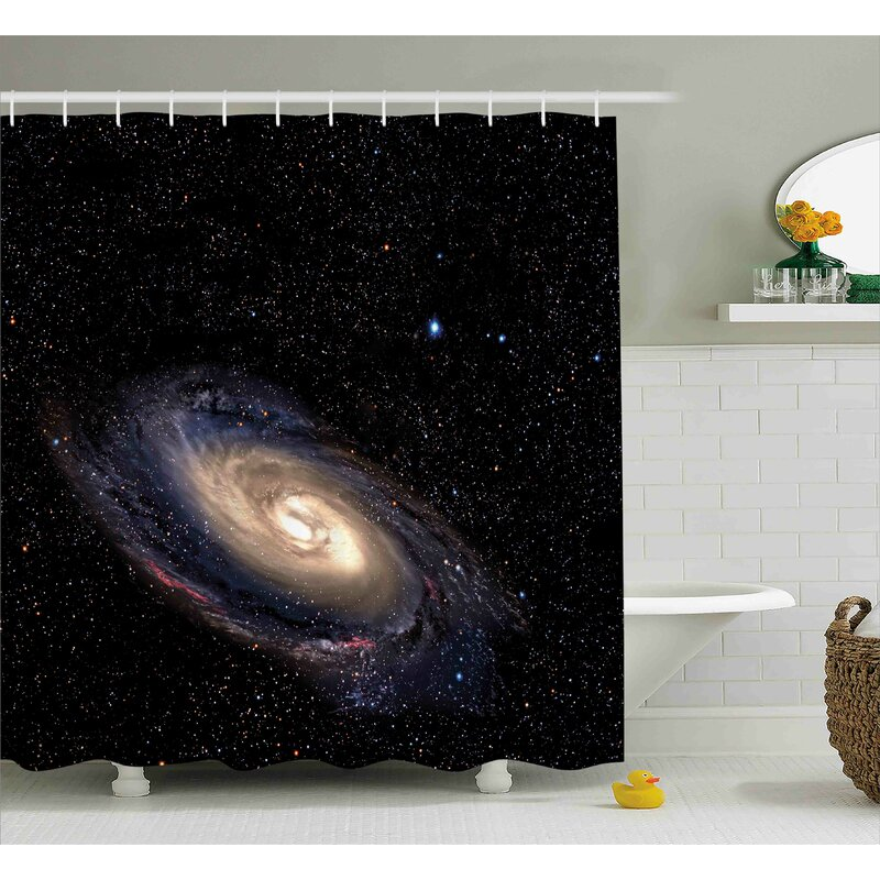 Spiral Space Universe Shower Curtain