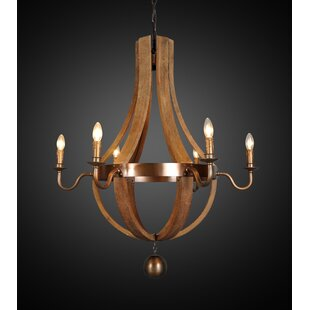 Gracie Oaks Aleisha 6-Light Empire Chandelier