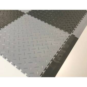 Mats Inc Protection Diamond 21 X 21 Garage Flooring Tile In Black Wayfair