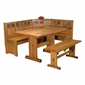 Sedona Corner Nook 2 Piece Dining Set by Just Cabinets Furniture and More
